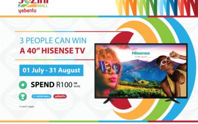 Win one of 3 Hisense TVs